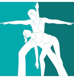 sports couple vector image vector image