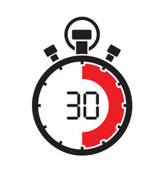 stopwatch thirty minute vector image vector image
