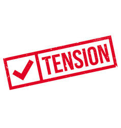 Tension rubber stamp vector