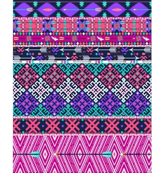 Tribal seamless aztec pattern with birds vector