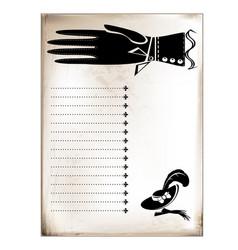 Vintage card female hand vector