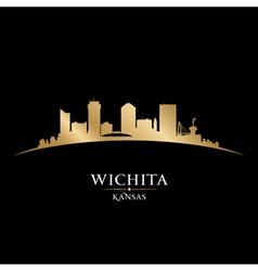 Wichita Kansas city skyline silhouette vector image