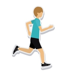 Person figure athlete running sport icon vector
