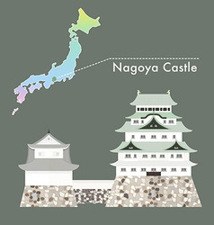 Japan Castle Nagoya vector image