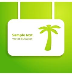 Tropical applique background vector image