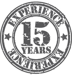 Grunge 15 years of experience rubber stamp vector image