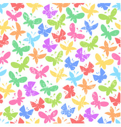 seamless pattern with bright butterflies on vector image