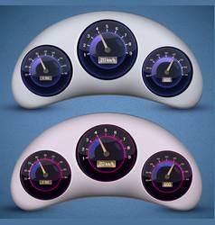 speedometer interface icon set vector image