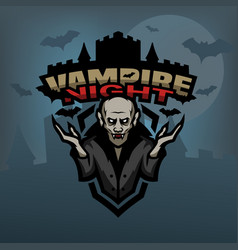 Vampire against the background of the castle vector