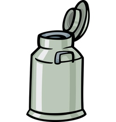 Milk can or churn cartoon clip art vector