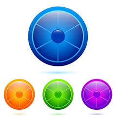 Set of segmented buttons vector