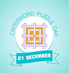 21 december crossword puzzle day vector