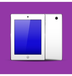 Tablet pc white color vector