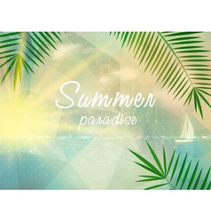 Abstract seaside view poster template vector
