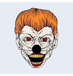 cartoon scary clown vector image