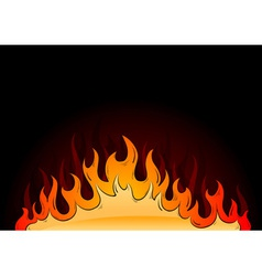 hot flames vector image