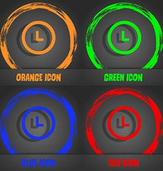 Clock icon fashionable modern style in the orange vector