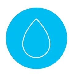 Water drop line icon vector