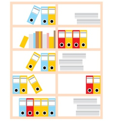 office cupboard vector image