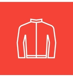 Biker jacket line icon vector