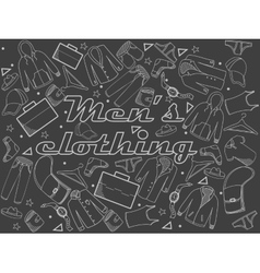 Men clothing chalk vector image