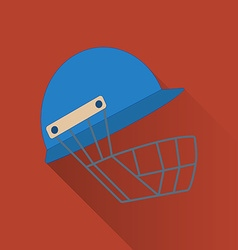 Cricket game flat icon vector