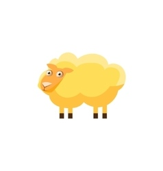 Sheep simplified cute vector