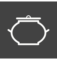 Food bowl with lid vector