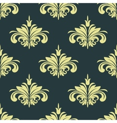 Arabesque damask style seamless background pattern vector