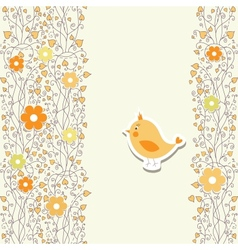 Baby card with bird vector image