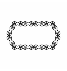 Bicycle chain icon outline style vector image