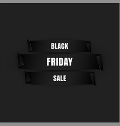 Black friday banner special sale paper scrolls vector