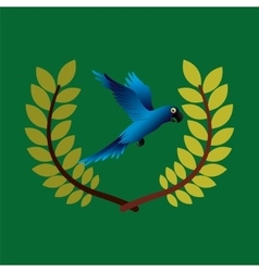 Blue macaw brazil olympic games emblem vector