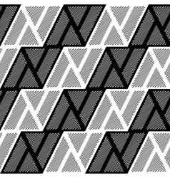 Design seamless monochrome triangle pattern vector image
