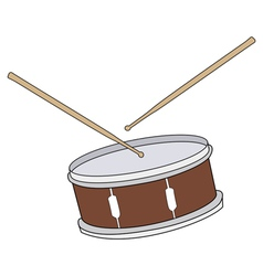 Drum with drumsticks vector
