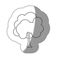 Figure stamp natural tree icon vector