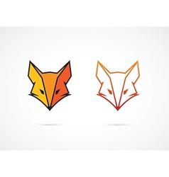 Fox face vector image vector image