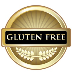 Gluten Free Gold Label vector image