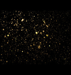 Gold spot one black background for design vector
