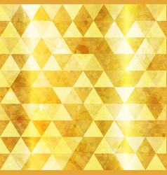 Gold triangles seamless pattern vector