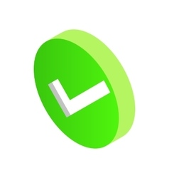 Green round element icon isometric 3d style vector image vector image