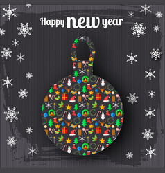 Happy new year celebrate poster vector
