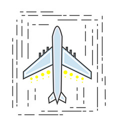 Icon aircraft symbol airline or travel company vector