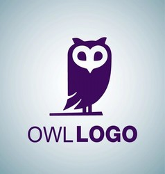 OWL LOGO 8 vector image vector image