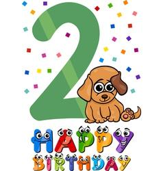 Second birthday cartoon design vector