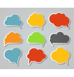 Set of Cloud Shaped Speech Bubbles vector image