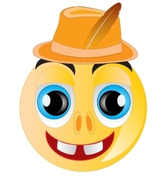 Smile in hat vector
