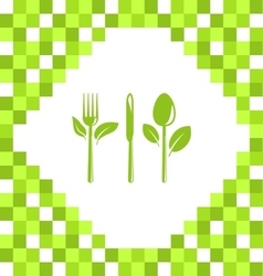 Symbol of Vegetarian Food vector image