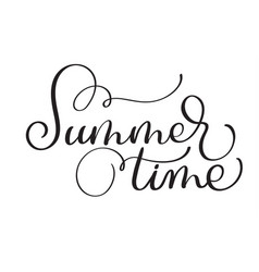 Text summer time on a white background vector