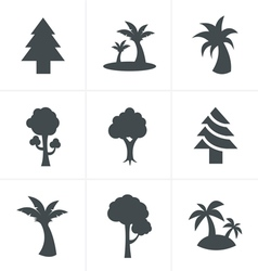 Tree Icons Set Design vector image vector image
